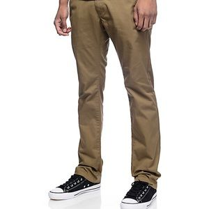 Zumiez Men Drifter Slim Straight pants in Khaki